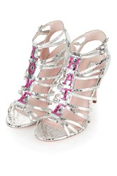 React Love Hate Sandals Silver