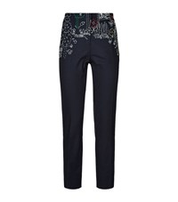 Mira Mikati Embroidered Tuxedo Trousers Female Navy