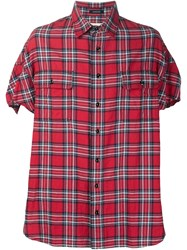 R 13 R13 Plaid Short Sleeve Shirt Red