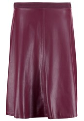 Comma Aline Skirt Cranberry Dark Red