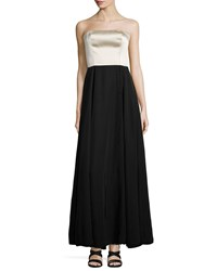 Creatures Of The Wind Strapless Two Tone Bustier Gown Black Oyster Women's