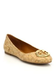 Tory Burch Reva Cork Ballet Flats Natural