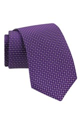 Gitman Brothers Vintage Men's Geometric Silk Tie Purple