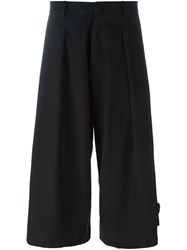 Isabel Benenato Wide Legged Cropped Trousers Black