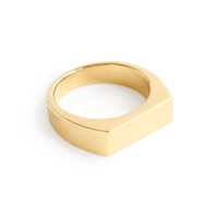 J.Crew 14K Gold Rectangle Signet Ring