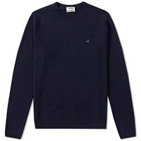 Acne Studios Dasher Face Crew Knit Blue