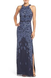 Aidan Mattox Women's Beaded Mesh Gown