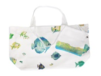 Marinette Saint Tropez Bahamas Lagoon Shopping Bag White