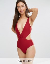 South Beach Red Mist Mix And Match Swimsuit Red