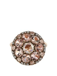 Selim Mouzannar Diamond Morganite And Pink Gold Beirut Ring