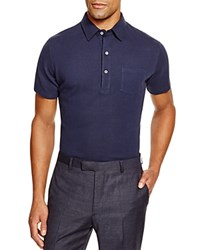 Hardy Amies Pique Slim Fit Polo Navy