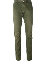 P.A.R.O.S.H. Slim Fit Trousers Green