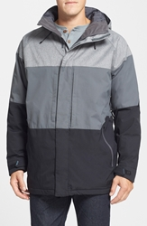 Burton 'Encore' Snowboard Jacket Bog Grey Color Block