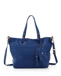 Isabella Fiore Bombay Embroidered Tote Bag Dark Cobalt
