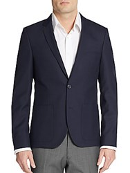 Hugo Boss Alesono Wool Blend Blazer Dark Blue