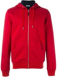 Christian Dior Homme Zipped Hoodie Red