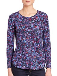 Rebecca Taylor Bouquet Rhapsody Tee Blue Multi