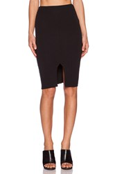 Lna Harley Slit Skirt Black