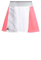 Adidas Performance Sports Skirt Flash Red Oyster Grey White