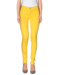 Space Style Concept Trousers Casual Trousers Women Yellow