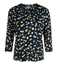 Eastex Painterly Spot Jersey Top Blue