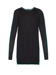 Rag And Bone Verity Round Neck Cashmere Sweater Dark Green