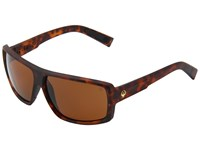 Dragon Alliance Double Dos Matte Tortoise Bronze P2 Sport Sunglasses Black