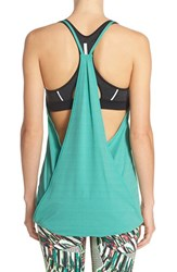 Women's Zella 'Her' Layered Racerback Tank Green Depth