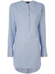 Theory Striped Blouse Blue