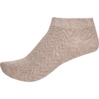 River Island Womens Light Pink Zig Zag Trainer Socks