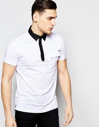 Antony Morato Slim Polo Shirt With Contrast Collar White