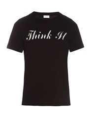 Saint Laurent Think It Print T Shirt Black