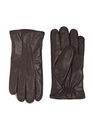 Paul Costelloe Brown Fine Stitched Goat Leather Gloves