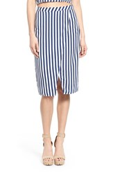 Women's Leith Stripe Asymmetrical Pencil Skirt