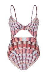 Mara Hoffman Shell Print Cutout Swimsuit