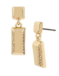 Kenneth Cole Square And Rectangle Drop Earrings Gold