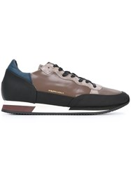 Philippe Model Panelled Lace Up Sneakers Black