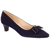 Peter Kaiser Edel Kitten Heel Court Shoes Navy Suede