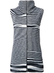 Missoni Zipped Knit Tank Top Black