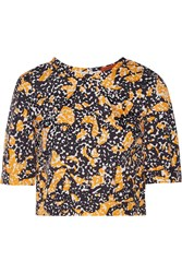 Missoni Cropped Printed Shell Top Orange