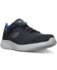 Skechers Men's Energy Burst Deal Closer Running Sneakers From Finish Line Bllack Blue