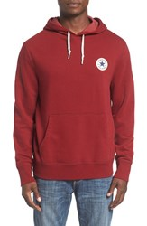 Converse Men's 'Core' Logo Patch Hoodie Red Block