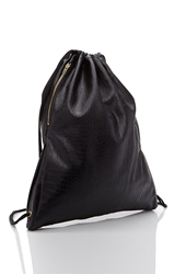 Forever 21 Faux Crocodile Drawstring Backpack