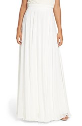 Jenny Yoo Women's 'Hampton' Long A Line Chiffon Skirt
