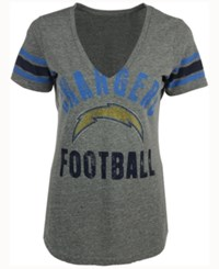 G3 Sports Women's San Diego Chargers Any Sunday Rhinestone T Shirt Gray