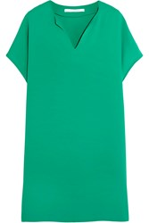 Diane Von Furstenberg Kora Crepe Mini Dress Jade