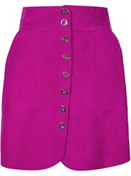 Lanvin Classic A Line Skirt Pink And Purple