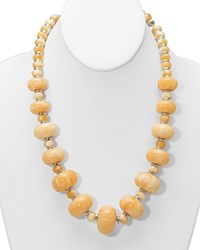 Lauren Ralph Lauren Canyon Chic Beaded Necklace 18 Brown