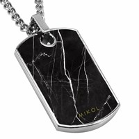 Mikol Real Marble Dog Tag Collectionnero Marquina