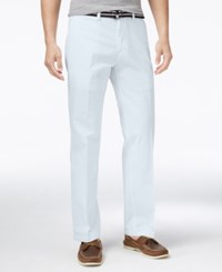 Haggar Men's Heritage Flex Waist Straight Fit Poplin Pants Light Blue